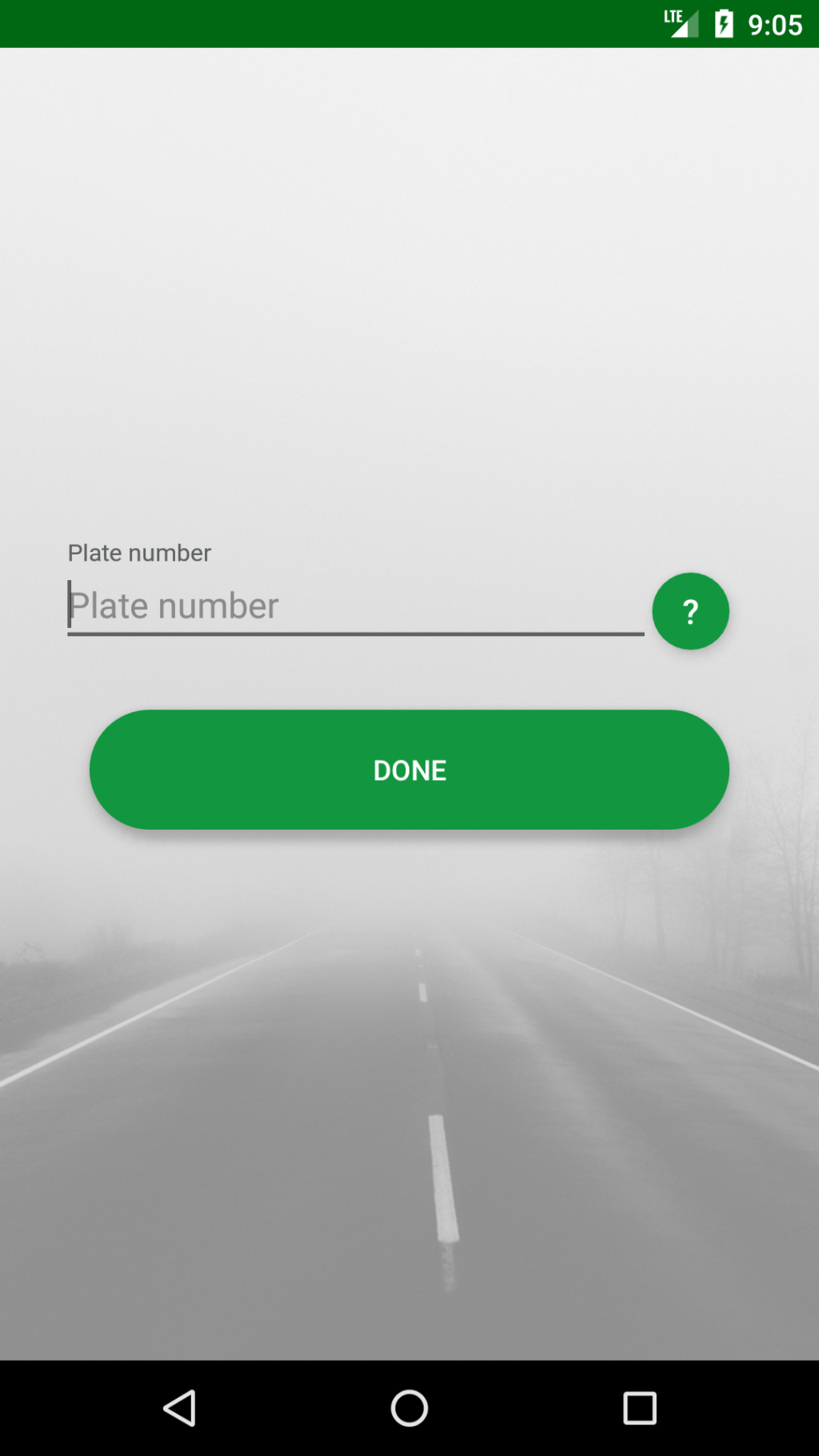 Fill the blank with your plate number