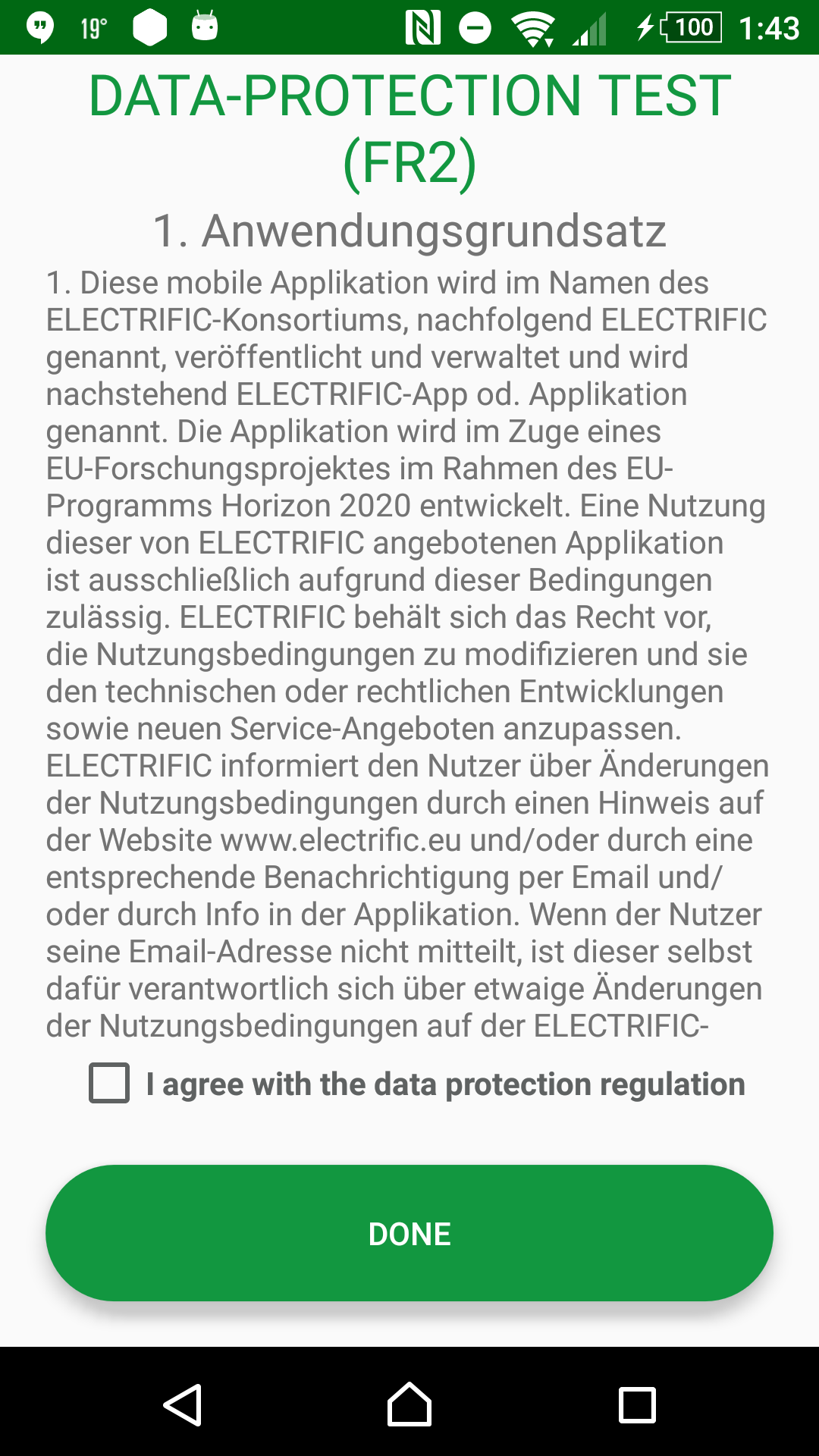 Terms & conditions GER check